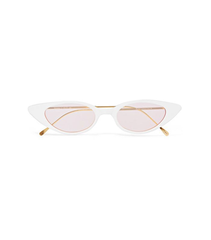 Marianne Cat-Eye Acetate and Gold-Tone Sunglasses
