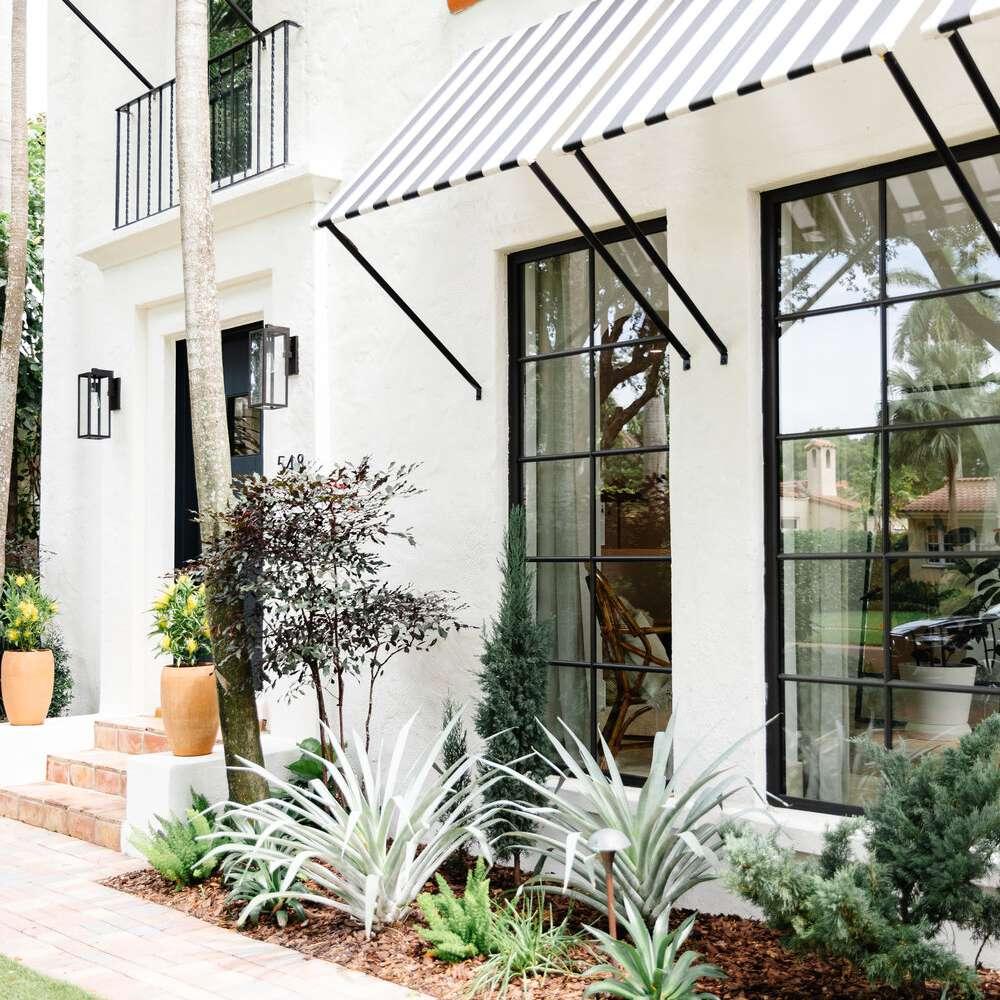 calimia home walkway with plants
