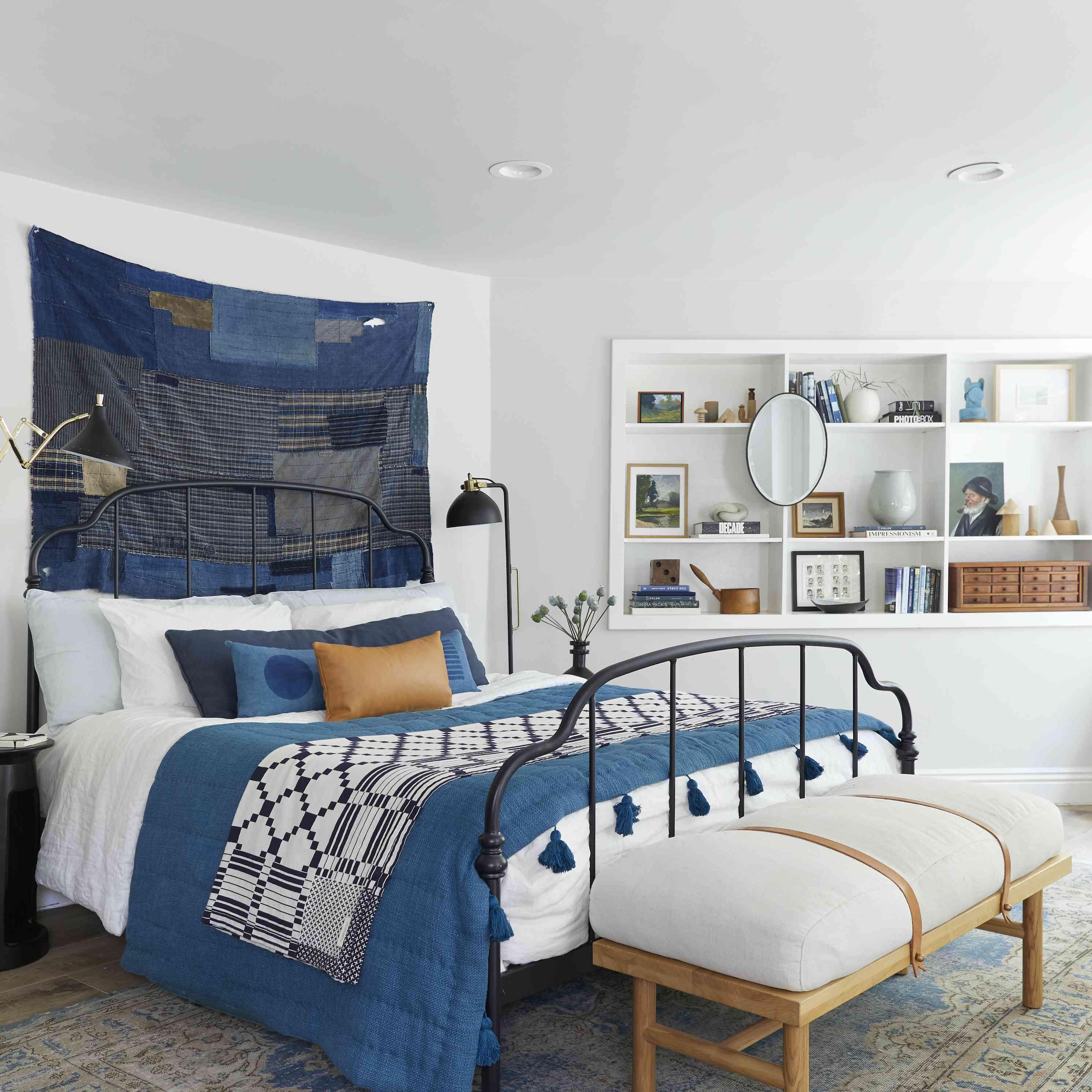 Bedroom in shades of denim
