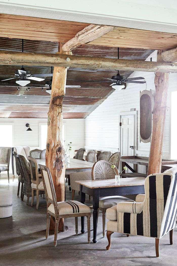 modern farmhouse living area