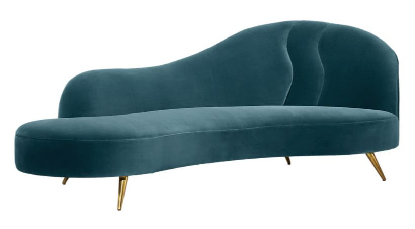 copine chaise lounge teal
