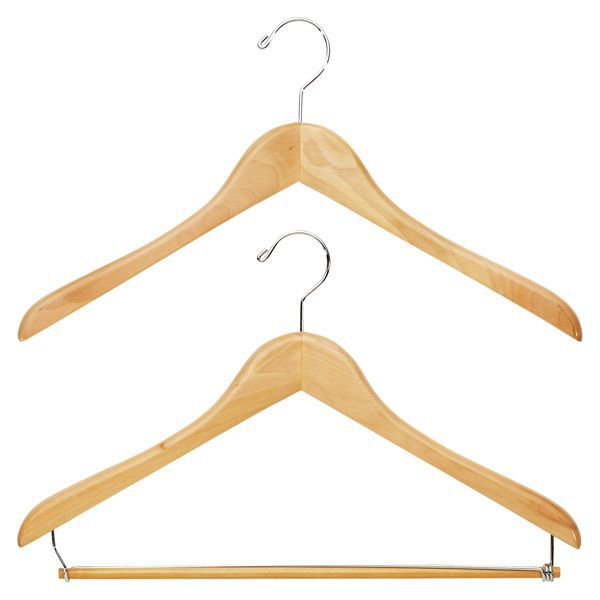 The Container Store Premium Natural Wooden Hangers—Minimalist Closets