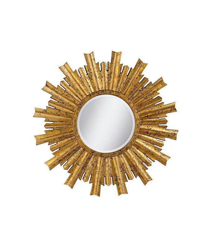 Chairish Large Sunburst Gold Mirror