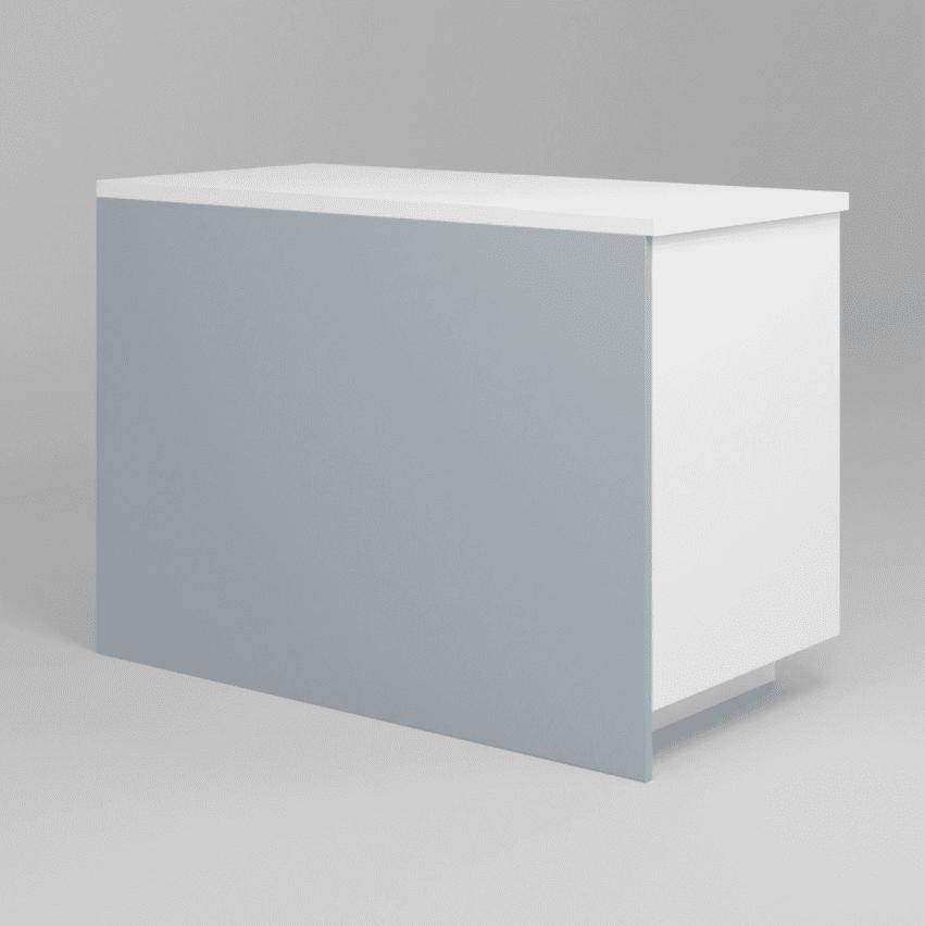 A light blue island panel you can buy at Semihandmade