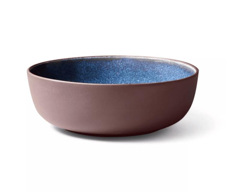 Reactive Glaze Stoneware Serving Bowl Brown/Blue