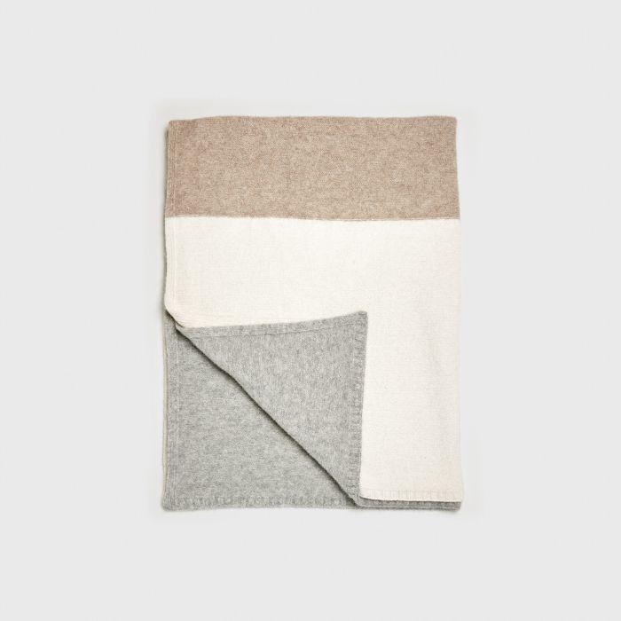 Jenni Kanye Alpaca Colorblock Throw Blanket