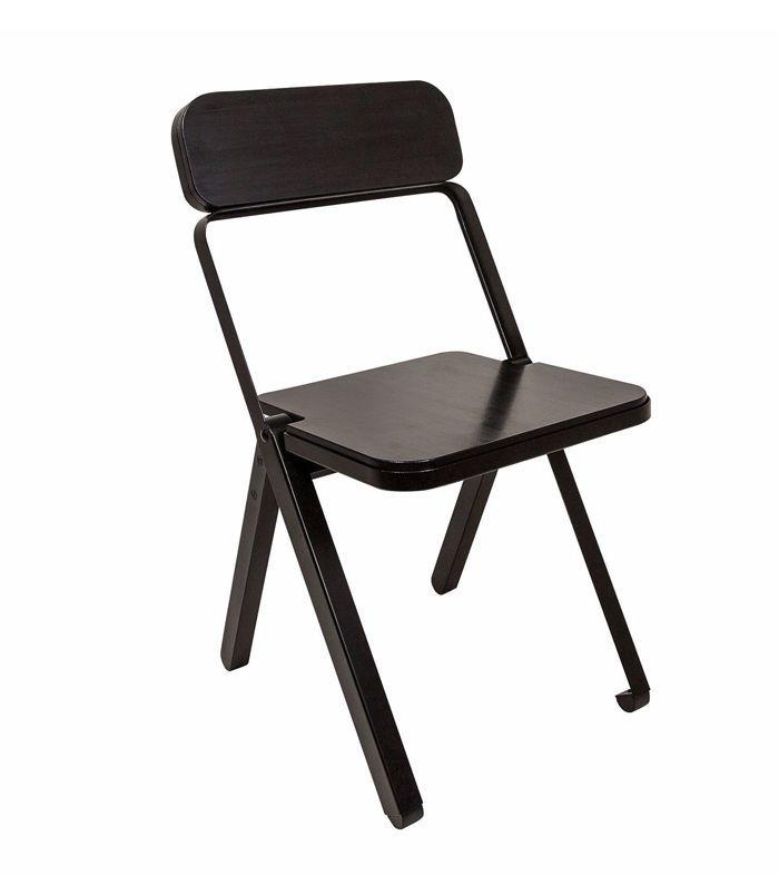 Consort Design Profile Folding Chair in Black
