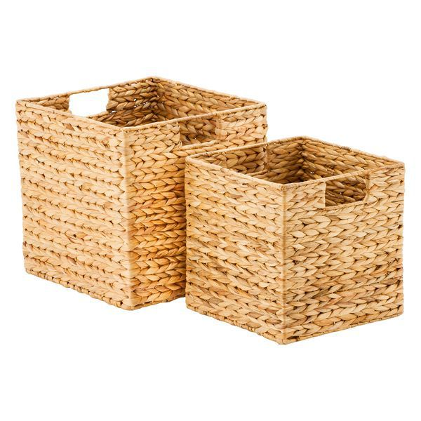 The Container Store Water Hyacinth Storage Cubes With Handles