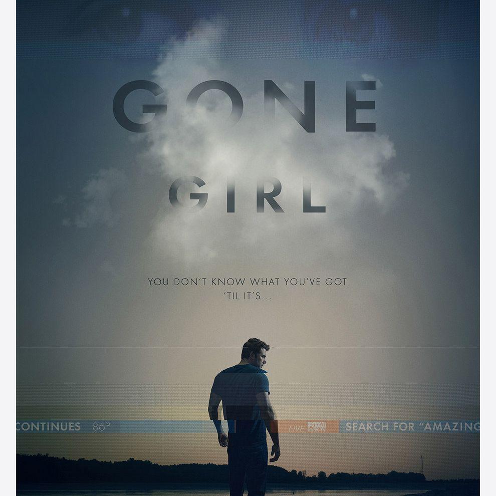 Gone Girl movie poster.