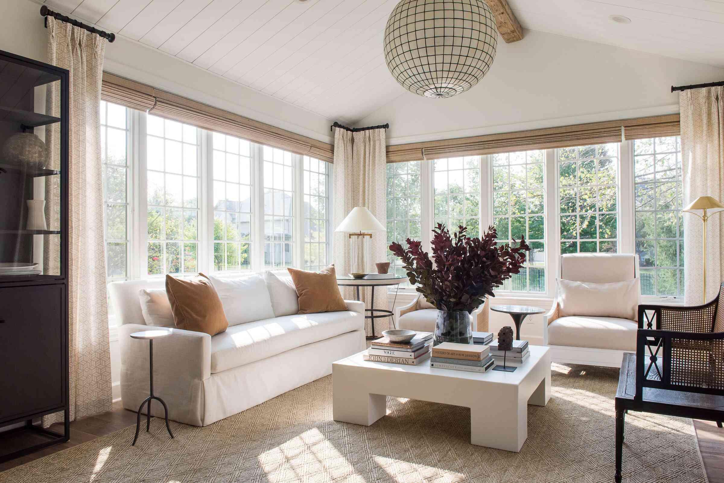 best living room ideas - tone on tone living room