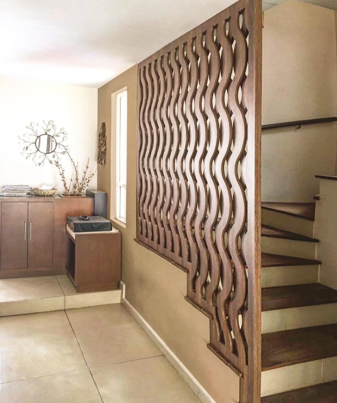 Wavy wood paneling