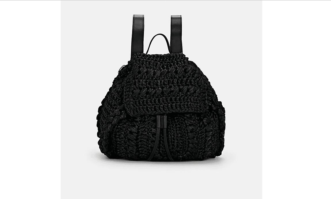 Raffia backpack