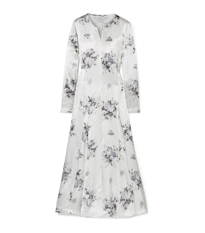 Cameron Floral-print Satin Midi Dress