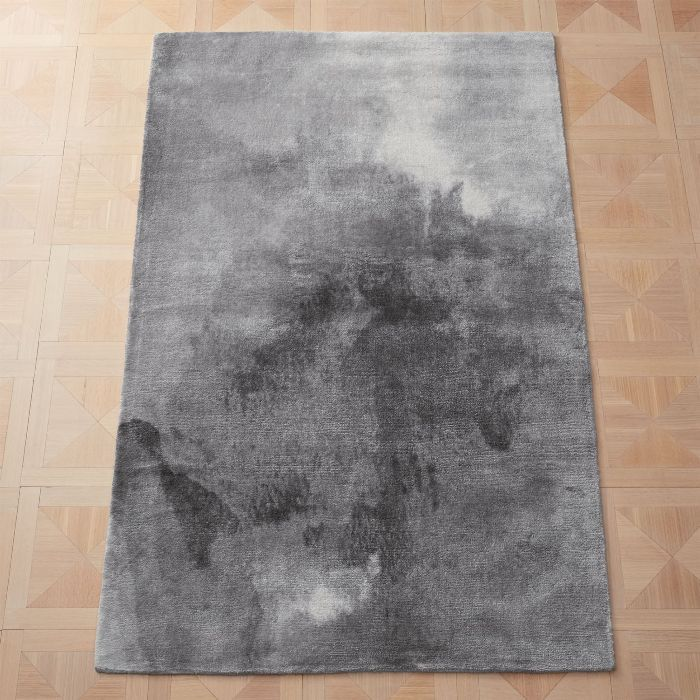 CB2 Wash Grey Watercolor Rug