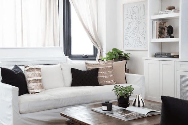 Netural styled living room.