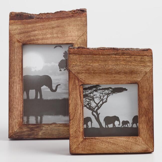 raw edge wood frame
