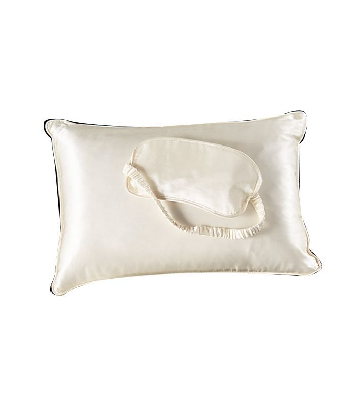Silk Pillow and Eye Mask Travel Set