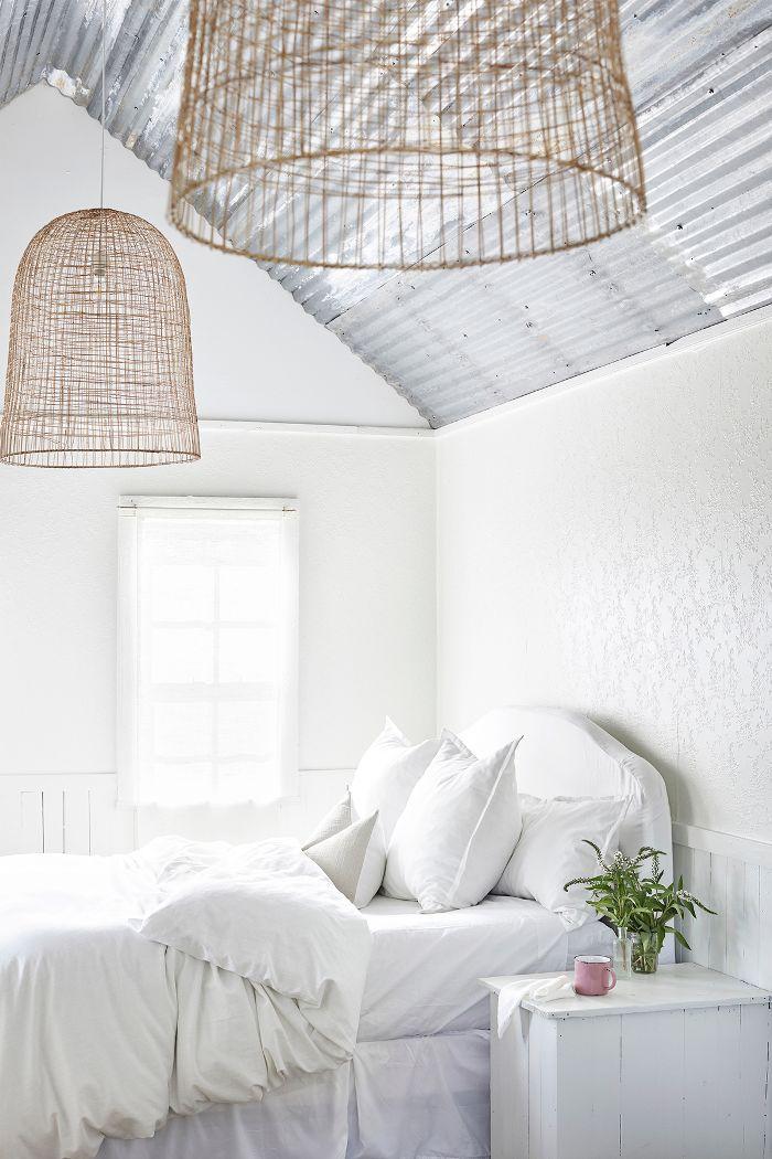modern farmhouse guest bedroom design
