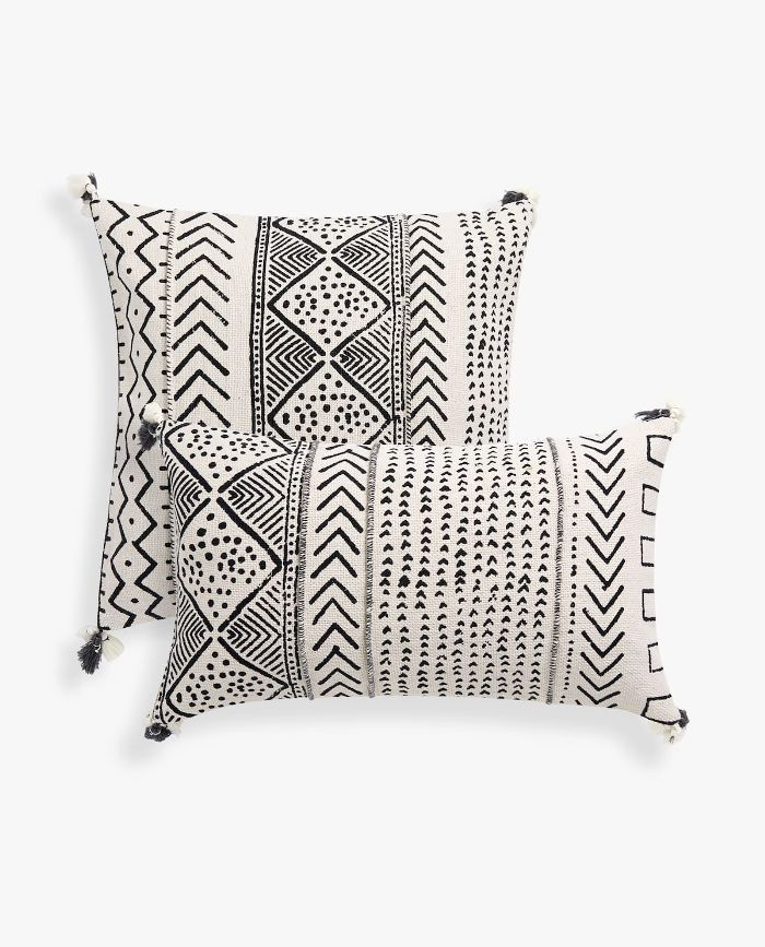 Zara Home Geometric Pattern Throw Pillow