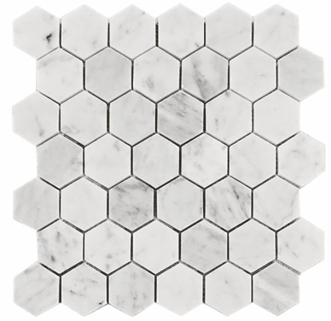 Carrara Venato Marble Hexagon Polished 2