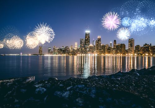 New Year's Eve Fireworks, Chicago