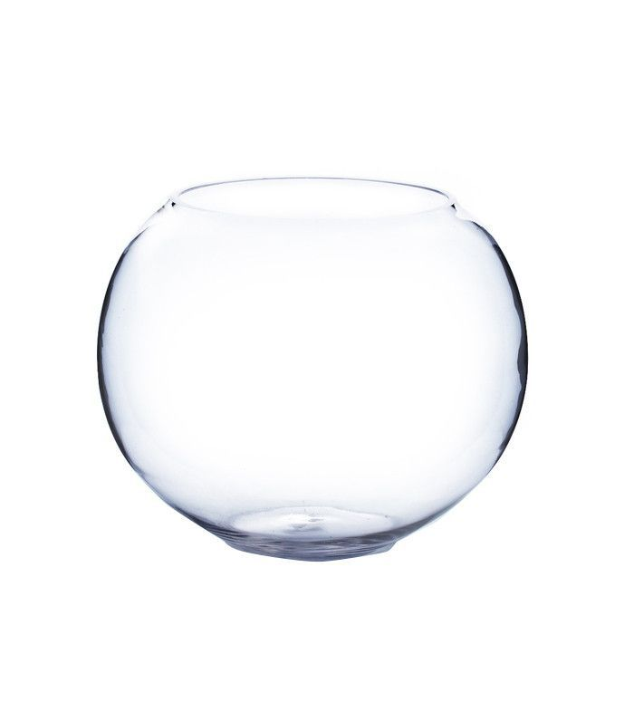 Overstock Clear Round Bubble Bowl Vase