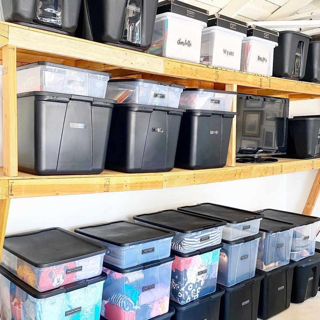 Garage filled with bins