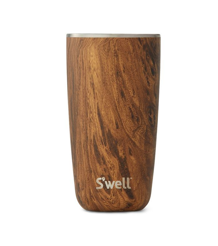 S'Well Teakwood 18-Ounce Stainless Steel Insulated Tumbler