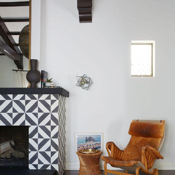 Shay Mitchell—fireplace design