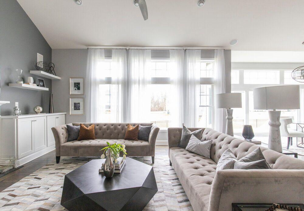 gray and neutral living room
