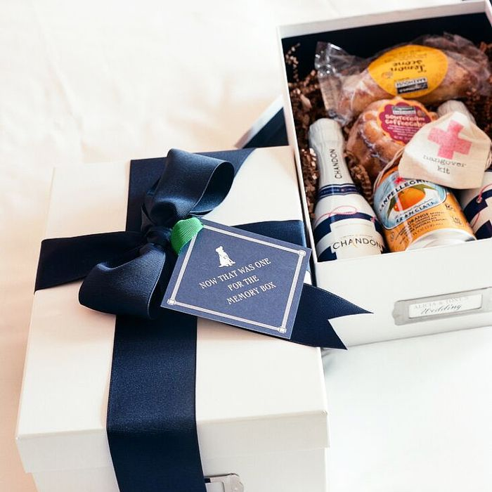 Box of wedding favors