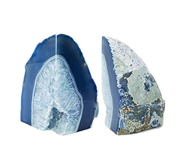 Dream Gem Polished Agate Stone Bookends