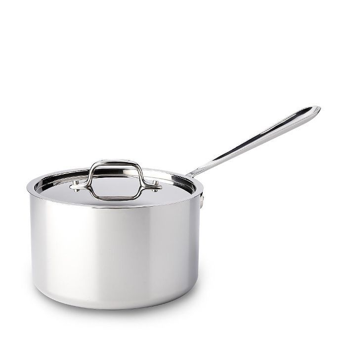 All Clad Stainless Steel 4 Quart Sauce Pan with Lid