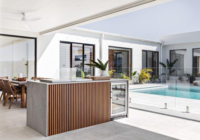 Light-filled outdoor kitchen