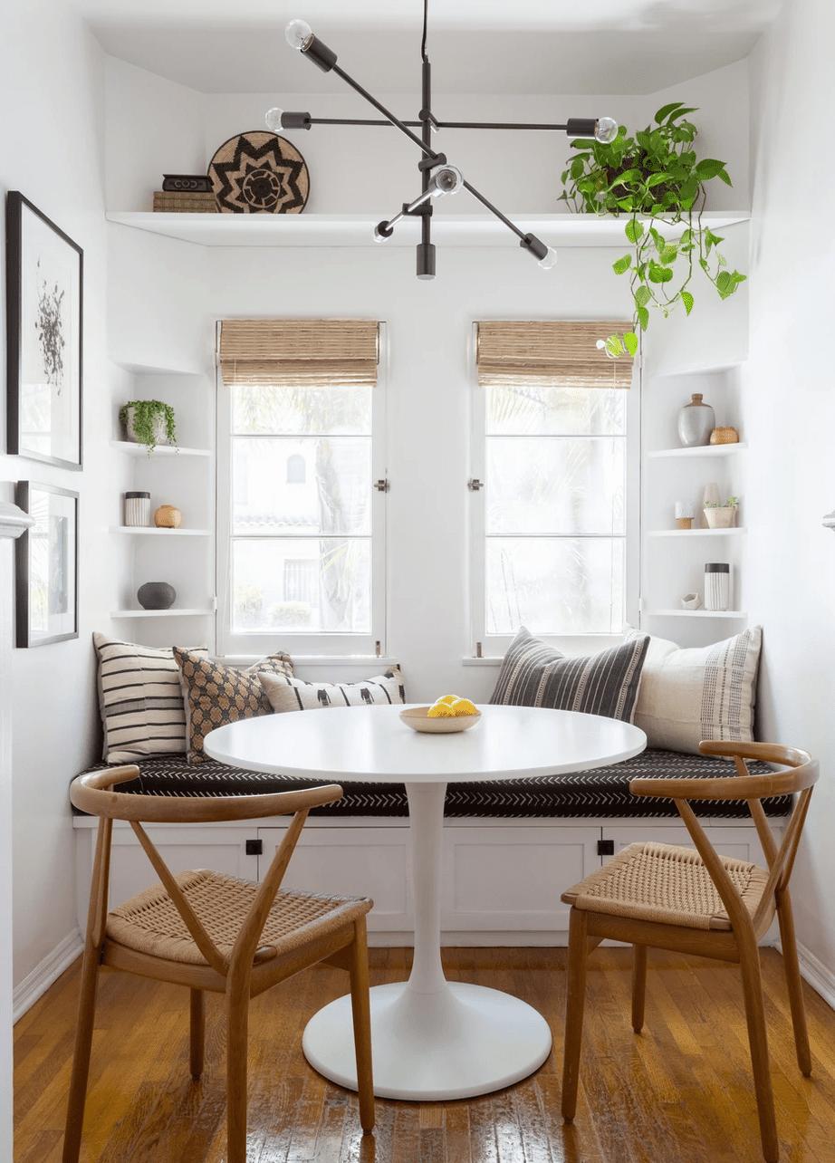 best kitchen ideas - banquette with breakfast nook