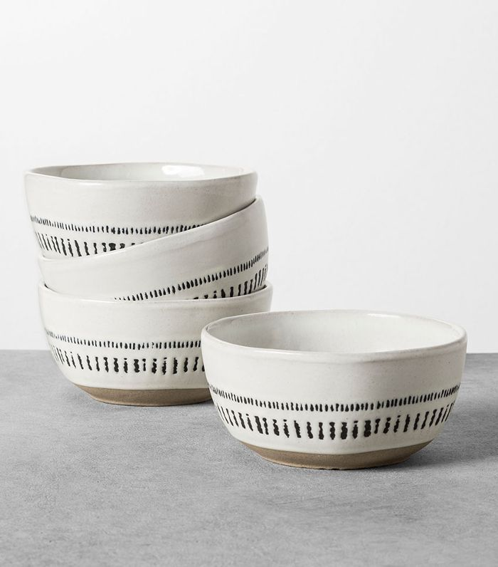 Hearth & Hand with Magnolia Black and White Mini Bowls, Set of 4