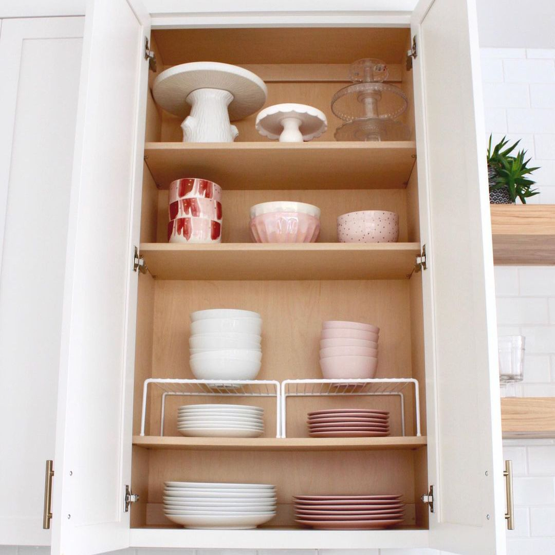 Cabinet with plates and bowls