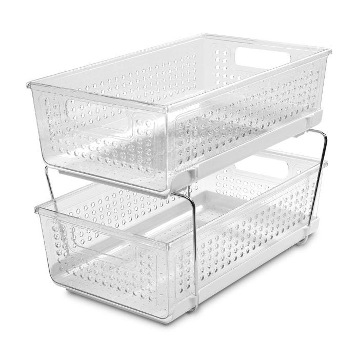 Madesmart 2-Tier Sliding Basket Organizer