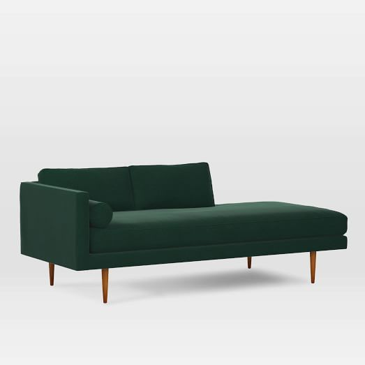 Monroe Mid-Century Right Chaise Lounger