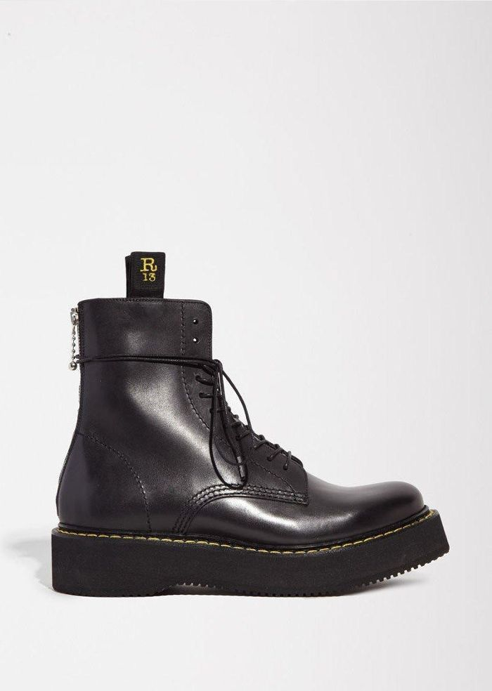 Lace Up Boot Black Size: IT 41