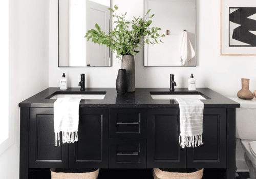 Decorate With Black In The Bathroom, Images Of Black Bathrooms