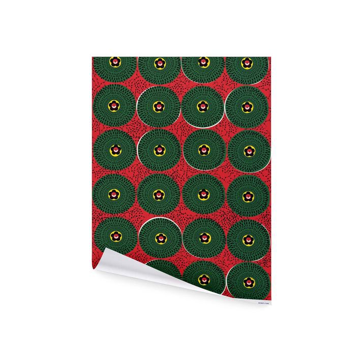 Red Ankara Wrapping Paper.