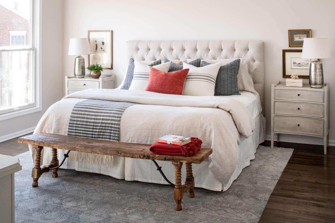 Liz Mearns home tour - master bedroom