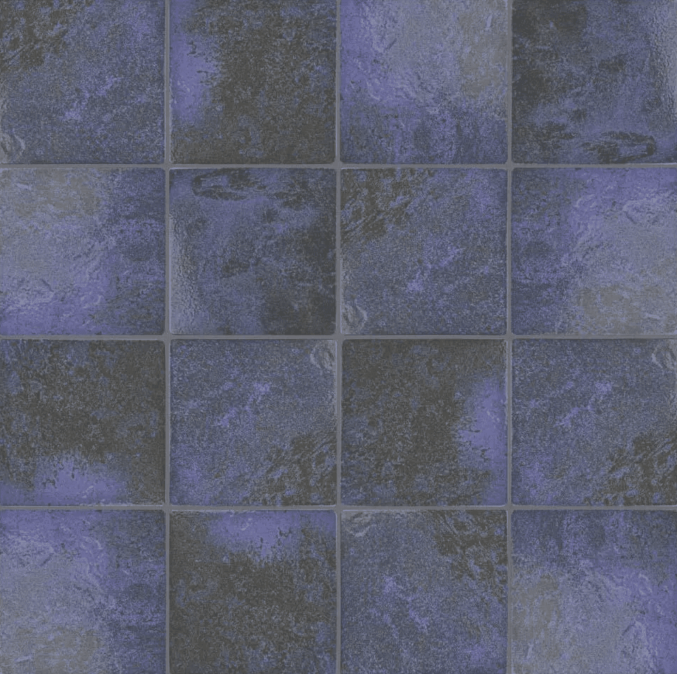 A series of blue tiles you can buy at Home Depot