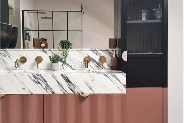 DIY bathroom vanity IKEA hack