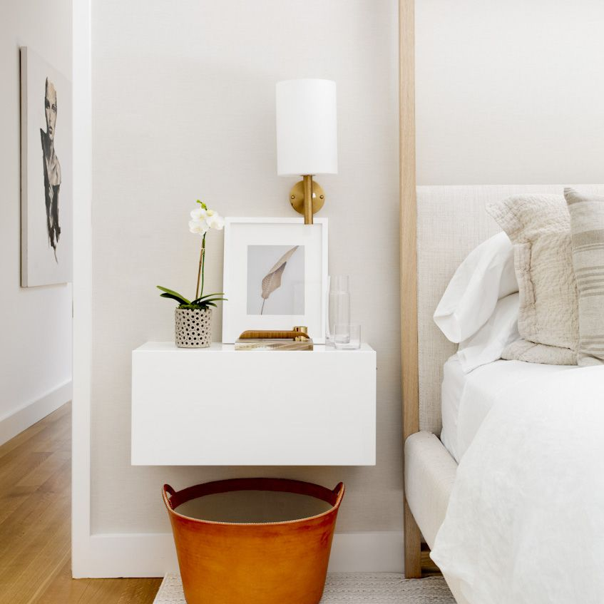 Orchid on a night stand
