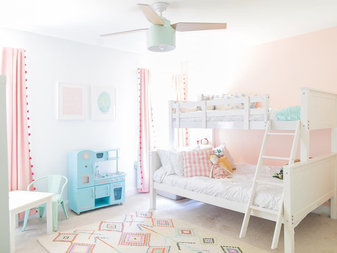 Pink and pastel girls room