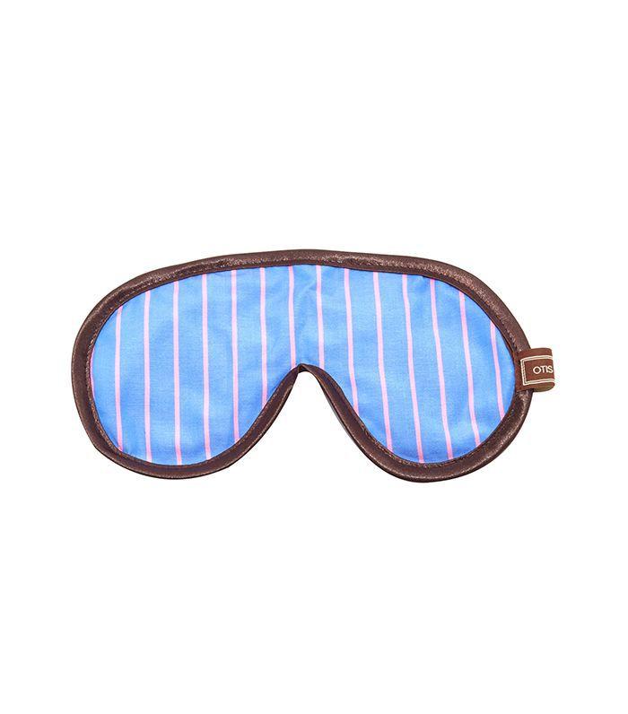 Pink Stripe Eye Mask