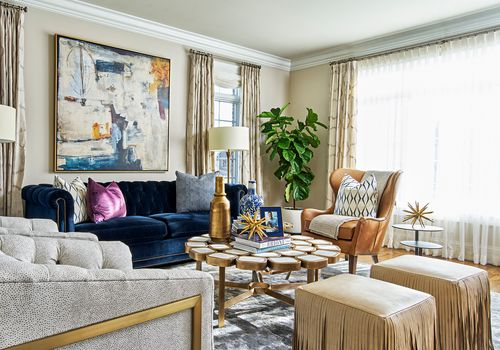 makeover of the week - Tiffany Brooks Glam Living Room Makeover