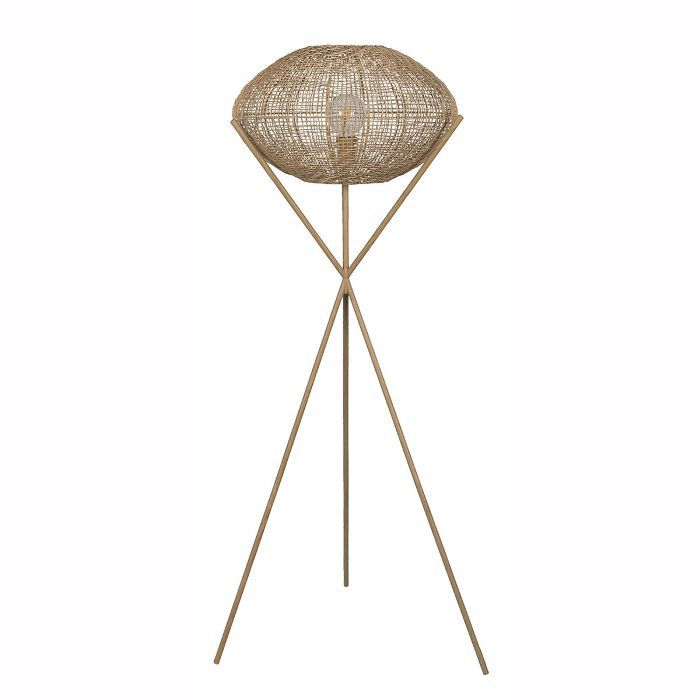 Project 62 and Leanne Ford Natural Woven Tripod Floor Lamp Natural (Includes Energy Efficient Light Bulb)